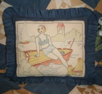 A Day At The Beach Parlor Pillow